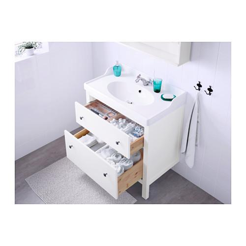 HEMNES/RÄTTVIKEN 雙抽屜洗手盆櫃
