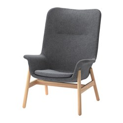 VEDBO - high-back armchair, Gunnared dark grey | IKEA Hong Kong and Macau - PE638684_S3