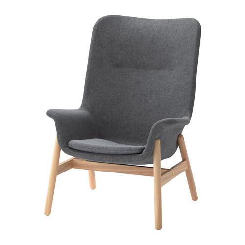 VEDBO - high-back armchair, Gunnared dark grey | IKEA Hong Kong and Macau - PE638684_S4