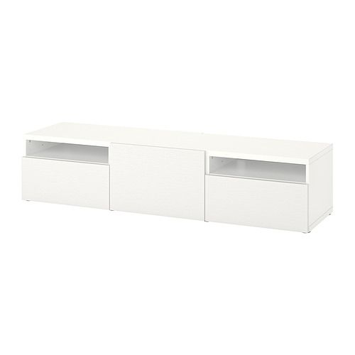 BESTÅ - 電視几連抽屜/門, 白色/Laxviken 白色 | IKEA 香港及澳門 - PE828994_S4