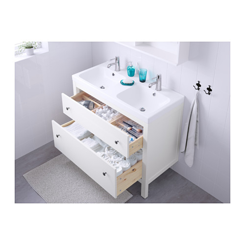 HEMNES - wash-stand with 2 drawers, white | IKEA Hong Kong and Macau - PE570615_S4