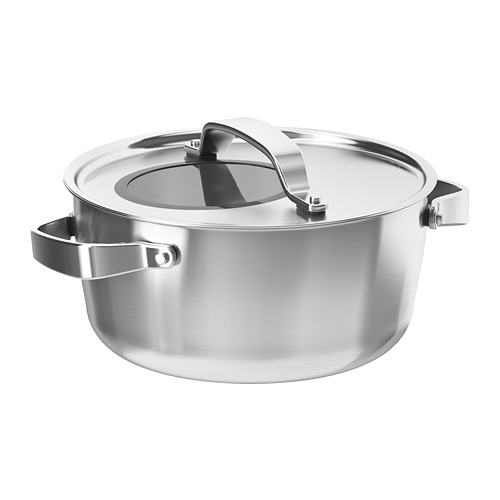 SENSUELL - pot with lid 4L, stainless steel/grey | IKEA Hong Kong and Macau - PE729079_S4