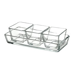 MIXTUR - 焗爐碟/上菜碟,4件套裝, 透明玻璃 | IKEA 香港及澳門 - PE729114_S3