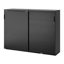 GALANT - 趟門貯物櫃, 染黑梣木飾面 | IKEA 香港及澳門 - PE686151_S3