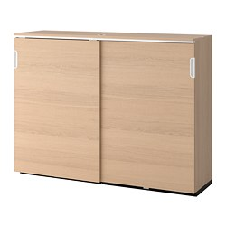 GALANT - 趟門貯物櫃, 染白橡木飾面 | IKEA 香港及澳門 - PE686154_S3