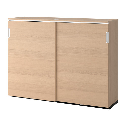 GALANT - 趟門貯物櫃, 染白橡木飾面   IKEA 香港及澳門 - PE686154_S4