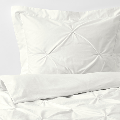 TRUBBTÅG - quilt cover and 2 pillowcases, white, 240x220/50x80 cm | IKEA Hong Kong and Macau - PE772272_S4