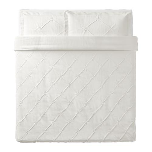 TRUBBTÅG - quilt cover and 2 pillowcases, white, 240x220/50x80 cm | IKEA Hong Kong and Macau - PE772277_S4