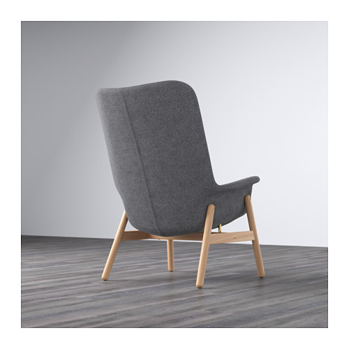 VEDBO - high-back armchair, Gunnared dark grey | IKEA Hong Kong and Macau - PE638862_S4