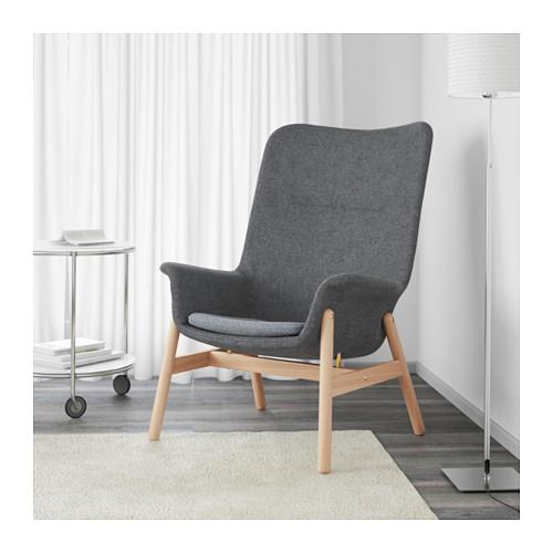 VEDBO - high-back armchair, Gunnared dark grey | IKEA Hong Kong and Macau - PE638863_S4