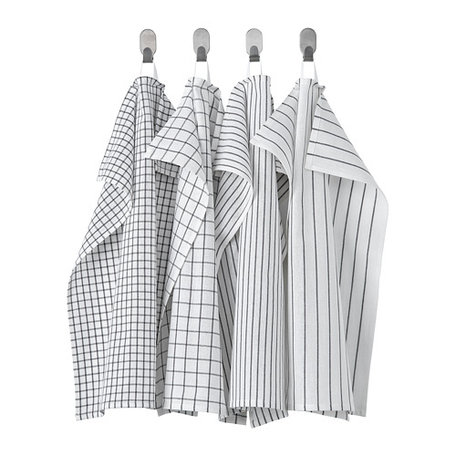 RINNIG - 抹布, 白色/深灰色/圖案 | IKEA 香港及澳門 - PE772338_S4