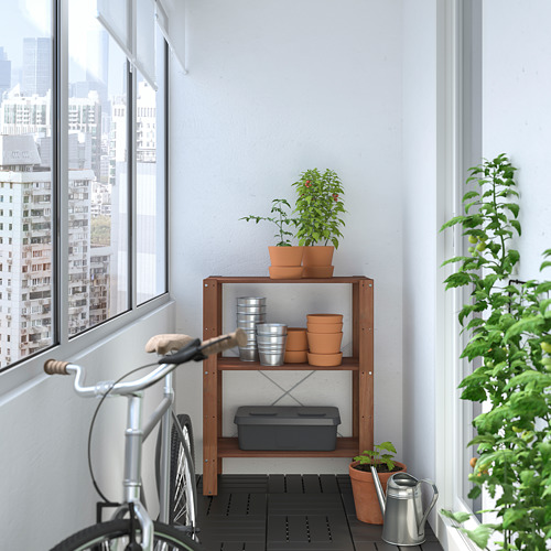 TORDH - shelving unit, outdoor, brown stained   IKEA Hong Kong and Macau - PE772354_S4
