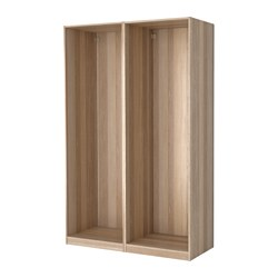 PAX - 2 wardrobe frames, white stained oak effect | IKEA Hong Kong and Macau - PE514176_S3