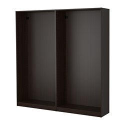 PAX - 2 wardrobe frames, black-brown | IKEA Hong Kong and Macau - PE514175_S3