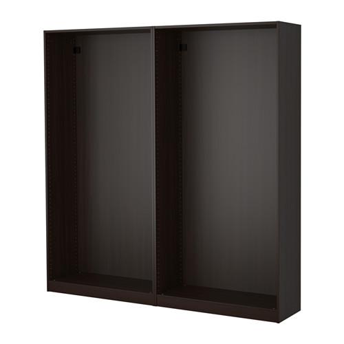 PAX - 2個衣櫃框, 棕黑色 | IKEA 香港及澳門 - PE514175_S4