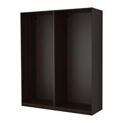 PAX - 2 wardrobe frames, black-brown | IKEA Hong Kong and Macau - PE514167_S3