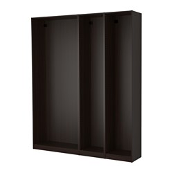 PAX - 3 wardrobe frames, black-brown | IKEA Hong Kong and Macau - PE514161_S3