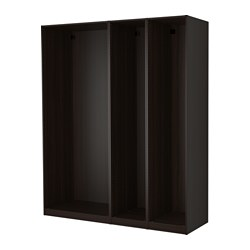 PAX - 3 wardrobe frames, black-brown | IKEA Hong Kong and Macau - PE514155_S3