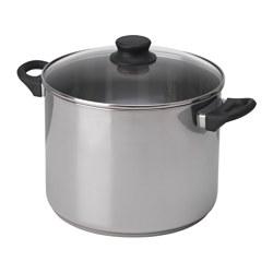 ANNONS - 連蓋鍋 10升, 玻璃/不銹鋼 | IKEA 香港及澳門 - PE638889_S3