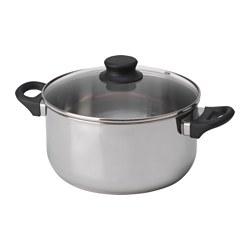ANNONS - 連蓋鍋 5升, 玻璃/不銹鋼 | IKEA 香港及澳門 - PE638888_S3