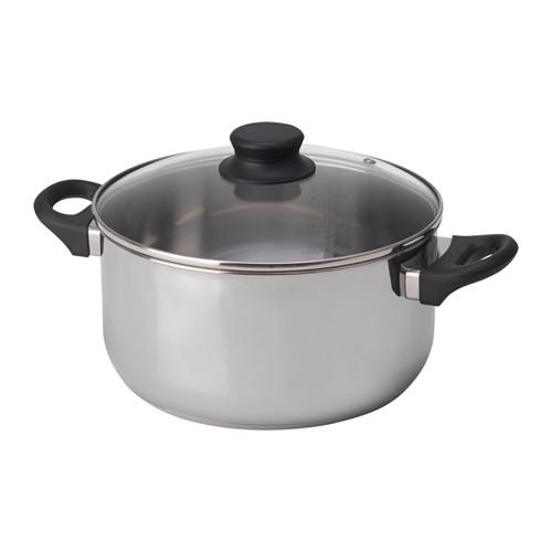 ANNONS - 連蓋鍋 5升, 玻璃/不銹鋼 | IKEA 香港及澳門 - PE638888_S4