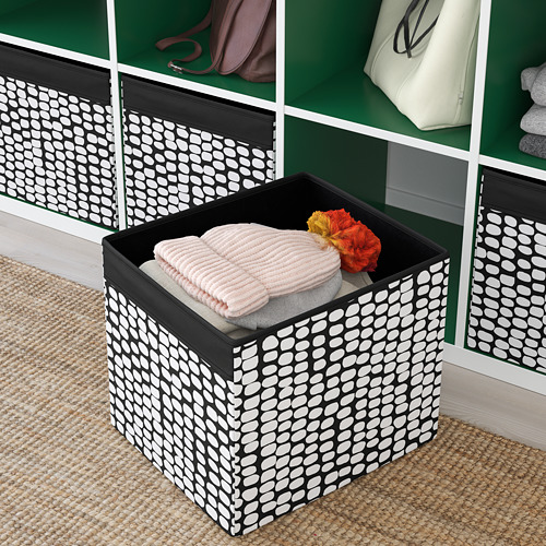 DRÖNA - box, black/white | IKEA Hong Kong and Macau - PE785269_S4