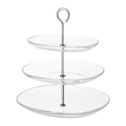 KVITTERA - serving stand, three tiers, clear glass/stainless steel | IKEA Hong Kong and Macau - PE729524_S3
