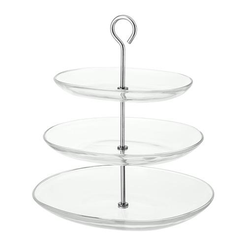 KVITTERA - 3層糕餅架, 透明玻璃/不銹鋼 | IKEA 香港及澳門 - PE729524_S4