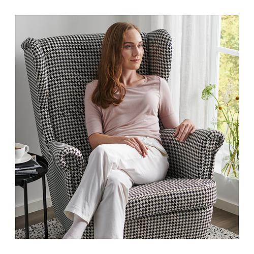 STRANDMON - 扶手椅, Vibberbo 黑色/米黃色 | IKEA 香港及澳門 - PH166294_S4