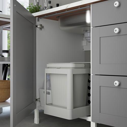 ENHET - 角位廚房, 白色/灰色 框架 | IKEA 香港及澳門 - PE783528_S4