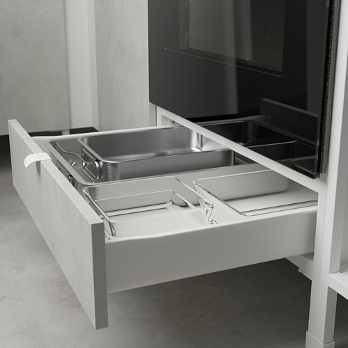 ENHET - 焗爐/爐具用貯物組合, anthracite/concrete effect | IKEA 香港及澳門 - PE783557_S4