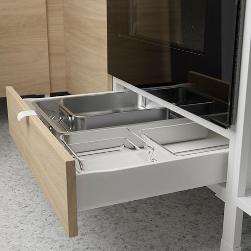 ENHET - 角位廚房, 白色/橡木紋 | IKEA 香港及澳門 - PE783556_S4