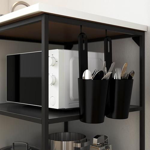 ENHET - 底框連層板, 炭黑色 | IKEA 香港及澳門 - PE783580_S4