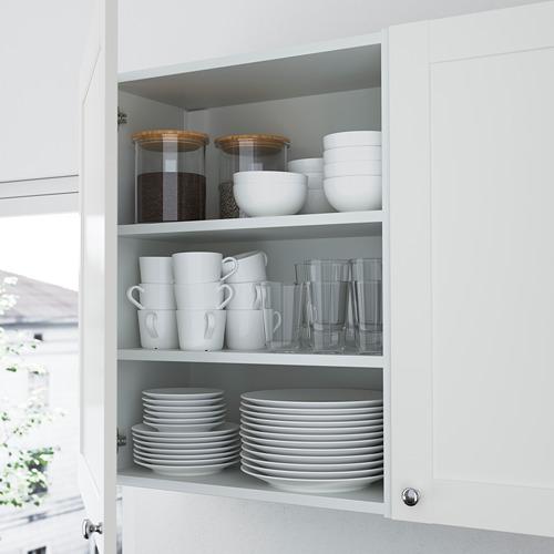 ENHET - 上牆式貯物架組合, white/grey frame | IKEA 香港及澳門 - PE783590_S4