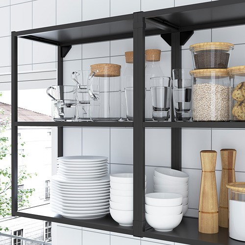 ENHET - 上牆式貯物架組合, anthracite/grey frame | IKEA 香港及澳門 - PE783624_S4