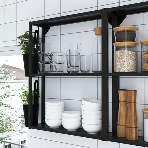 ENHET - 角位廚房, 炭黑色/白色 | IKEA 香港及澳門 - PE783626_S4