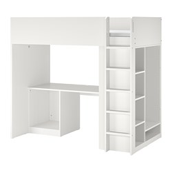 SMÅSTAD - loft bed frame w desk and storage, white | IKEA Hong Kong and Macau - PE783646_S3