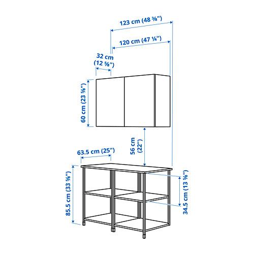 ENHET - 上牆式貯物架組合, 白色 | IKEA 香港及澳門 - PE829222_S4