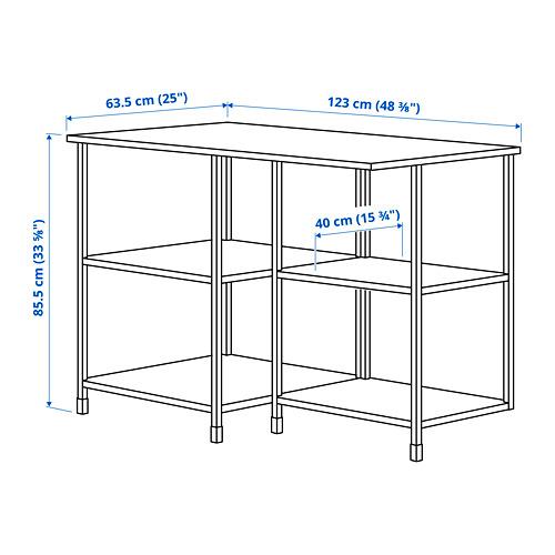 ENHET - kitchen isl storage comb w seating, anthracite   IKEA 香港及澳門 - PE829223_S4