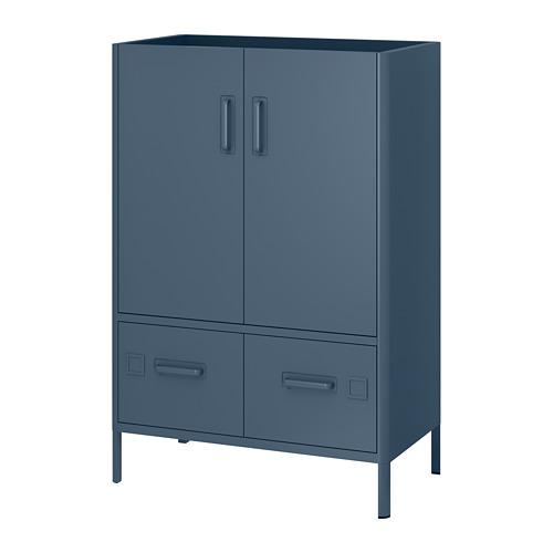 IDÅSEN - cabinet with doors and drawers, blue | IKEA Hong Kong and Macau - PE686432_S4