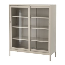 IDÅSEN - cabinet with sliding glass doors, beige | IKEA Hong Kong and Macau - PE686433_S3