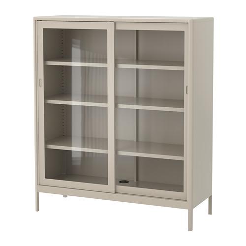 IDÅSEN - cabinet with sliding glass doors, beige | IKEA Hong Kong and Macau - PE686433_S4