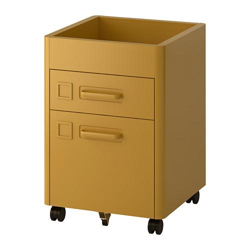 IDÅSEN - 活動抽屜組合, 金啡色 | IKEA 香港及澳門 - PE686436_S4