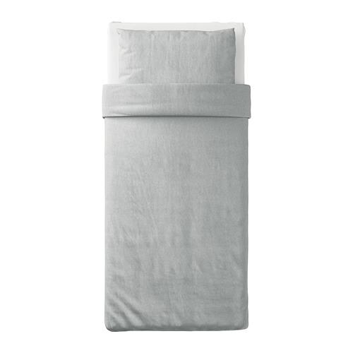 SPJUTVIAL - quilt cover and pillowcase, light grey/mélange, 150x200/50x80 cm  | IKEA Hong Kong and Macau - PE775208_S4