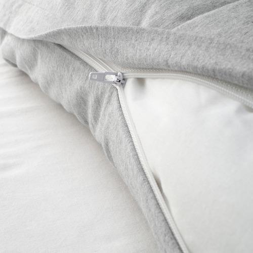 SPJUTVIAL - quilt cover and pillowcase, light grey/mélange, 150x200/50x80 cm  | IKEA Hong Kong and Macau - PE775215_S4