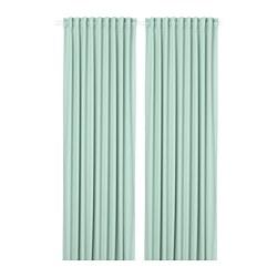 MAJGULL - room darkening curtains, 1 pair, light green | IKEA Hong Kong and Macau - PE783710_S3