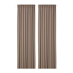 MAJGULL - block-out curtains, 1 pair, grey/brown | IKEA Hong Kong and Macau - PE783714_S3