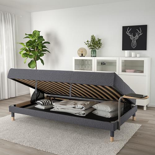 FLOTTEBO - sofa-bed with side table, Gunnared medium grey | IKEA Hong Kong and Macau - PE729832_S4