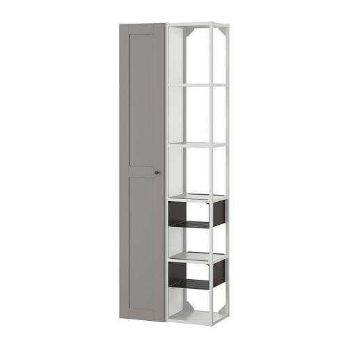 ENHET - 上牆式貯物架組合, white/grey frame   IKEA 香港及澳門 - PE783793_S4
