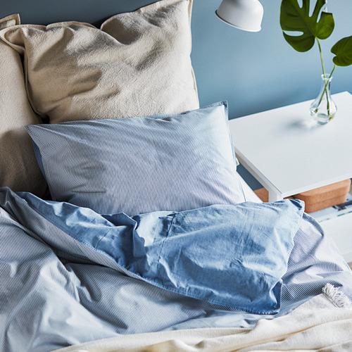 BLÅVINDA - 被套連2個枕袋, 淺藍色, 240x220/50x80 cm    IKEA 香港及澳門 - PH168653_S4